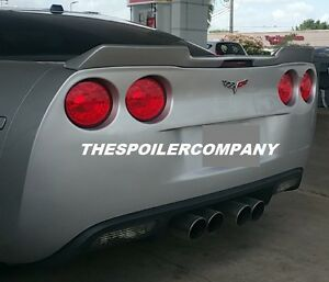 Unpainted For 2005 2013 Corvette C6 Finish Wicker Bill Inspired Rear Spoiler
