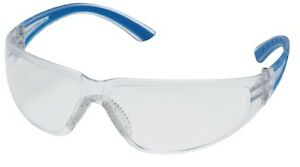 Pyramex Cortez Clear Lens Blue Temple Safety Glasses 12 box Ms97140