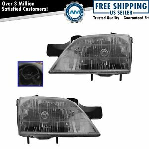 Headlights Headlamps Left Right Pair Set For Chevy Venture Montana Silhouette