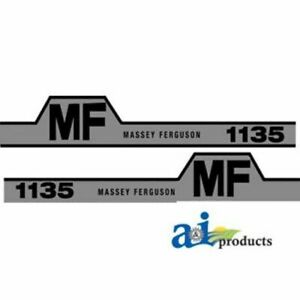 Massey Ferguson 1135 Hood Decal Set