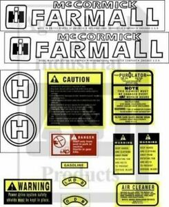 Farmall Caseih Tractor H Decal Set