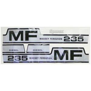 Massey Ferguson 235 Hood Decal Set