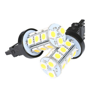 2x 3157 Warm White 18 Smd 5050 Reverse Tail Brake Stop Turn Backup Led Light Us