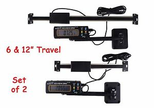 Digital Readout Dro Set 6 And 12 Igaging Ac Power Articulating Remote Display