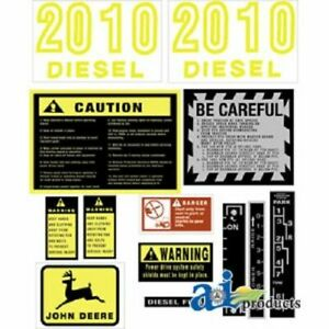 John Deere Tractor Model 2010 Decal Set