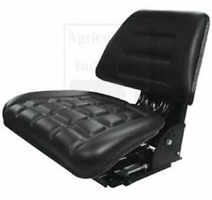 Tractor Seat Adjustable Full Suspension Flip Up Massey Ford Case Ih White