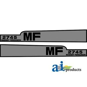 Massey Ferguson 2745 Hood Decal Set