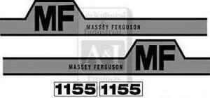Massey Ferguson 1155 Hood Decal Set