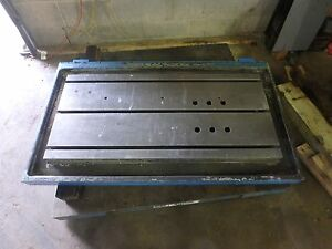 51 X 29 7 8 X 5 Steel Welding 3 T slotted Table Cast Iron Layout Plate _jig