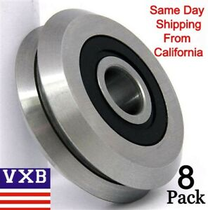 8 pack Rm2 2rs 3 8 V Groove Rubber Sealed Line Track Roller Vgroove Bearing