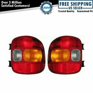 Taillights Taillamps Pair Set For 99 03 Silverado Sierra Truck Stepside