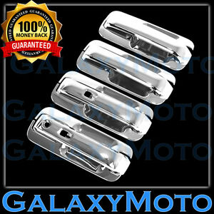 15 16 Ford F150 Triple Chrome 4 Door Handle W Smart Key Back Plate Lever Cover