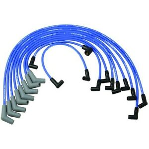 Ford Racing M 12259 c460 Spark Plug Wires Spiral Wound 9mm Blue 45 Deg Boots