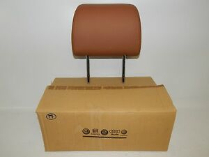 New Oem 2003 2007 Volkswagen Vw Touareg Seat Head Rest Front Rear Brown Leather