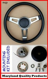 Cuda Barracuda Roadrunner Fury 3 Spoke Tuff Black Steering Wheel
