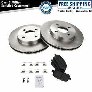 Front Ceramic Brake Pad Disc Rotor Kit For Chevy Cobalt G5