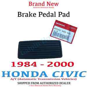 Genuine Oem Honda Civic Brake Pedal Pad Rubber Cover A T 84 00 46545 Sa5 980