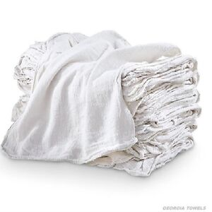 1000 New White Commercial Shop Towels Cleaning Rags 14x14 155 Bale Heavy Duty