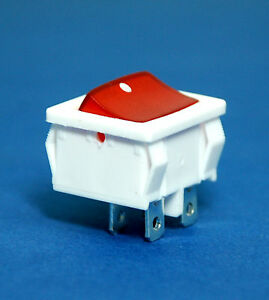 50pc Rocker Switch 4p Dpst 10a125v 6a250 Js 606p Red Lamp Jec Rohs White Case