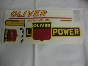 Oliver 77 Standard Diesel Red Numbers Tractor Decals