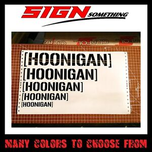 Hoonigan Sticker Decal Ken Block Dc Multiple Colors Sizes