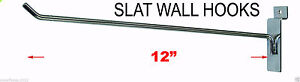 12 Slatwall Metal Hooks 50pc Or 100pc Stainless Steel Chrome New