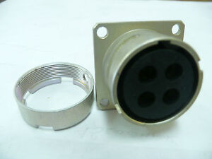 Souriau 84033172 4pin Flange panel Mount Connector New