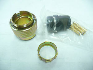 Souriau 84132850 3pin Locking Connector Pins Included New
