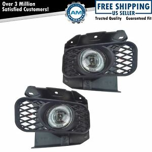 Upgrade Clear Lens Halo Projector Fog Lamp Light Pair For Expedition F150 Truck