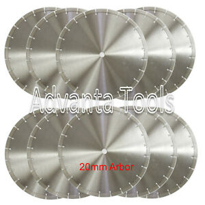 10pk 14 Diamond Blade For General Purpose Brick Block Concrete Stone 20mm Arbor