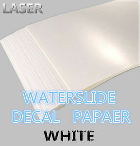 A4 Laser Printer Water Slide Decal Paper 10 Sheets White X 50 Packs In One Case