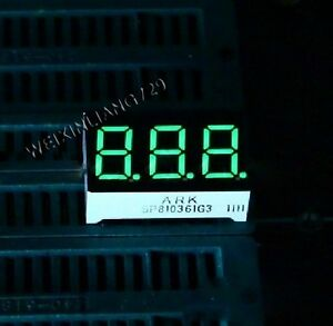 100pcs 0 36 Inch 3 Digit Led Display 7 Seg Segment Common Cathode Green