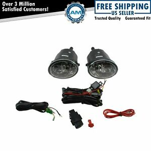 Add On Upgrade Clear Lens Fog Light Switch Wiring Kit Set For Sequoia Tundra New