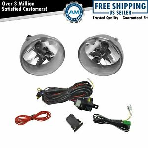 Add On Upgrade Clear Lens Fog Light Bulb Switch Wiring Kit Set For Tacoma Truck