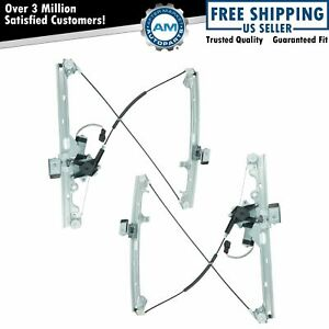 Power Window Regulators W Motor Front Pair Set For Chevy Cadillac Pickup Truck