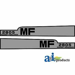 A mf2805 Massey Ferguson Parts Decal Set Hood 2805