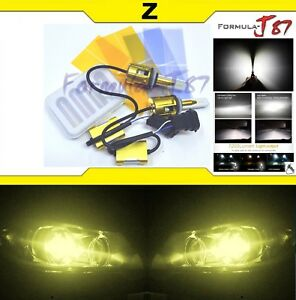 Led Kit Z 96w 893 3000k Yellow Two Bulbs Fog Light Upgrade Replacement Lamp Jdm