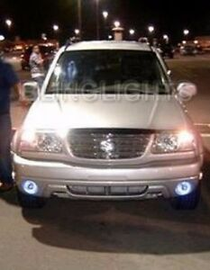Halo Angel Eye Fog Lights Driving Lamps Kit For 2002 2004 Suzuki Grand Vitara