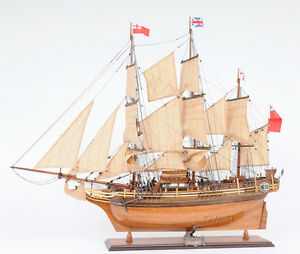 Hms Bounty Tall Ship 37 Wooden Model Sailboat Assembled