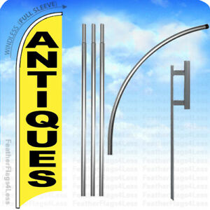 Antiques Windless Swooper Feather Flag 15 Kit Banner Sign Tall Yb