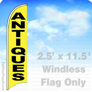Antiques Windless Swooper Flag 2 5x11 5 Feather Banner Sign Yb