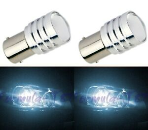 Led Light 5w Py21w White 6000k Two Bulbs Front Turn Signal Replacement Lamp Oe