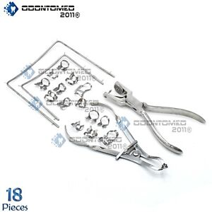 Rubber Dam Kit Starter Of 18 Pcs With Frame Punch Clamps Dental Instrumts Dn 592
