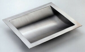 Stainless Steel Drop in Deal Tray Brushed Finish 16 w X 10 d