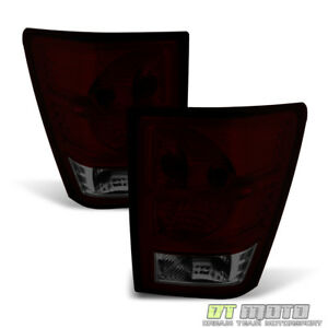 Blk Tinted 2007 2010 Jeep Grand Cherokee Tail Lights Brake Lamps Aftermarket Set