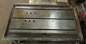 51 X 28 75 X 8 T slotted Steel Table Cast Iron T slot_jig_weld