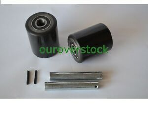 Clark Cj55 Pallet Jack Load Wheel Kit includes All Parts Shown
