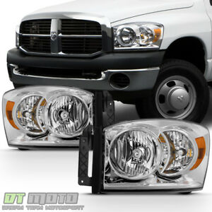 2006 2008 Dodge Ram 1500 07 09 2500 3500 Headlights Replacement Lamps Left right
