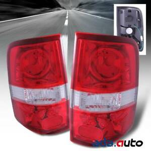 2004 2008 Ford F 150 F150 Pickup Truck Red Tail Lights Rear Lamps Pair