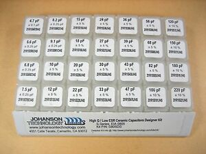 Johanson Technology High Q Low Esr Ceramic Capacitors Kit S805ds